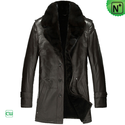Men's Shearling Trench Coat CW868331