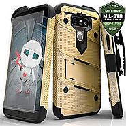 LG G5 Case, Zizo Bolt Cover with [.33mm 9H Tempered Glass Screen Protector] Included [Military Grade] Armor Case Kick...