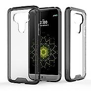 LG G5 Case, J&D [Crystal Clear] [Drop Protection] LG G5 Anti-Scratch Clear Back Panel + TPU Bumper Slim Case for LG G...