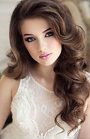 Cute Wavy Hairstyle for Wedding