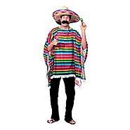 Mexican Serape Akaking's Party Multicolor Costume For Adult