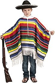 Forum Novelties Mexican Poncho Child Costume-