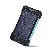 Innoo Tech 10000mAh Solar Charger with Sunpower Panel, Outdoor Solar Power Bank, Solar Battery Charger , Dual USB Por...