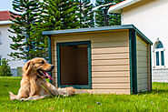 Dog house with air conditioner