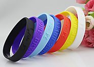 Design Own Personalized Valentine's Day Rubber Bracelets Online - Make Your Wristbands