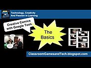 Classroom Games and Tech: Comics with Google Tools