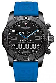 Replique Breitling Exospace B55 Connected en caoutchouc bleu Montre Homme VB5510H2/BE45/235S/V20DSA.2