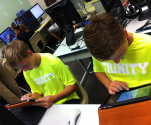 Trinity School of Midland ~ Seventh Grade Tackles LearnPads