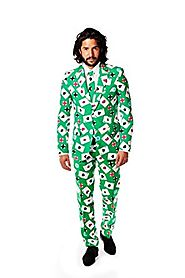 OppoSuits Men's Poker Face Party Costume Suit