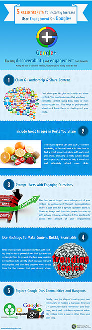 5 Killer Secrets To Instantly Increase User Engagement On Google Plus [Infographic] by David Pierce - Social Media En...