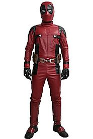 DP Wade Wilson Costume Updated Cosplay Full Suit Face Mask Belt Custom Made Xcoser