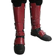 Dead Cosplay Pool Shoes PU Adult Side Zipper Covers Knee High Boots