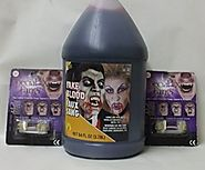 Vampire Bundle ~ 1/2 Gallon (64 FL OZ) Fake Blood & 2 Pair of Special FX Fangs