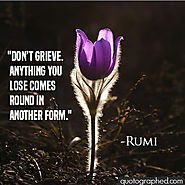 A quote from Rumi