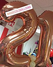Rose Gold Balloon Deco