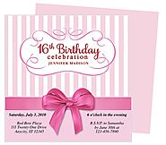 Girlie Birthday Party Invitation Template