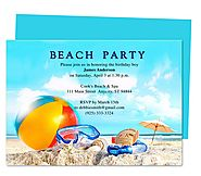 Lakeshore Birthday Party Invitation Template