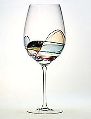 Antoni Barcelona Hand Painted Large Wine Glass - Unique Gifts for Women, Men, Wedding, Anniversary, Couples, Engageme...