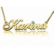 Classic Diamond Cursive Name Necklace