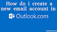 How do you create an Outlook email account?