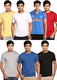 Pack of 6 Round Neck Cotton T-Shirts By Henry Hudson With 1 ICC Polo