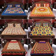 100% Cotton Rajasthani - Pack Of 6 Bed Sheets By Incredible Homes