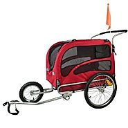 Doggyhut Large Pet Bike Trailer / Jogger Kit Dog Bicycle Carrier Red 7030201