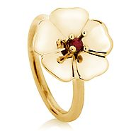 COTSWOLDS RING, ROUND RUBY 3MM - The Jewellery Hub online store for women's fashion jewellery