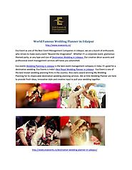 World Famous Wedding Planner in Udaipur
