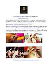 world famous wedding planner in udaipur. - PdfSR.com