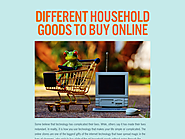 Different Household Goods to Buy Online