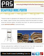 Scaffolding Training in Perth