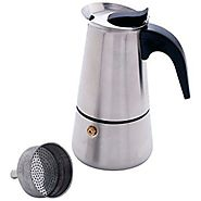 Chef KTESPMKR Heavy-Gauge Stainless Steel Espresso Maker, 4 Cup