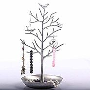 Jewelry Holder / Jewelry Organizer ,eBerry® Silver Birds Tree, Jewelry Stand Display for Hanging Earrings,Necklace,Br...