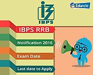 IBPS RRB Notification 2016 | Exam date, Last date for Apply