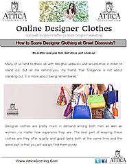 Discount Designer Clothes