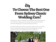 How To Choose The Best One From Sydney Classic Wedding Cars?