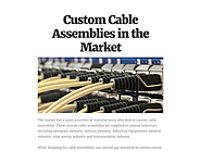 Custom Cable Assemblies in the Market
