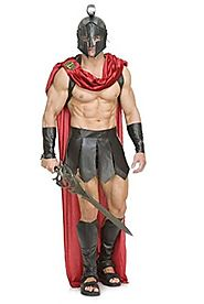 Charades Men's Spartan Warrior W/Accessories