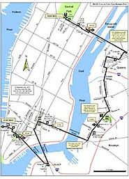 Fun on Foot NYC Five Bridges Run Map for Runners and Walkers