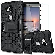 COVRWARE Huawei Honor 5X [Terrapin Series] Dual Layer Armor Protective Case with Built-in Kickstand + [ Tempered Glas...