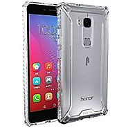 Huawei Honor 5X Case, POETIC Affinity Series Premium Thin/No Bulk/ protection where its needed/Clear/Dual material Pr...
