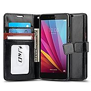Huawei Honor 5X Case, J&D [Wallet Stand] Huawei Honor 5X Wallet Case Heavy Duty Protective Shock Resistant Case for H...