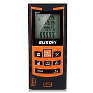Suaoki S9 200ft Portable Laser Measure Laser Distance Measurer with Pythagorean Mode, Area&Volume Calculation, Range ...