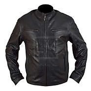 Fast And The Furious 6 - Fast 6 - Dominic Toretto Vin Diesel - Black Genuine Cowhide Leather Jacket