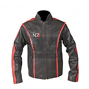 Mass Effect N7 Black Cowhide Genuine Leather Jacket - Mass Effect