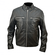 RIPD - Kevin Bacon Black Cowhide Genuine Leather Jacket