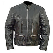 Terminator 3 - T3 Arnold Schwarzenegger Black Biker Leather Jacket