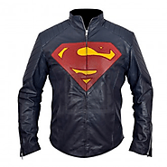 Superman - Man of Steel Midnight Blue Leather Jacket Henry Cavill