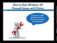 Solve Firewall Issues with Windows 10 | Windows 10 Technical Support Phone Number 1-800-500-6881